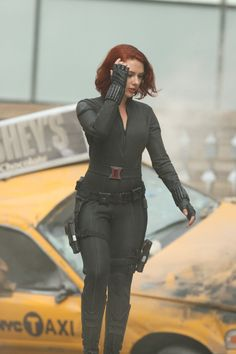 scarlett johansson the avengers  | Scarlett Johansson Set Photo Black Widow Avengers