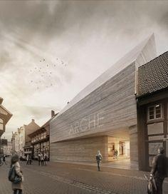 Wettbewerb in Göttingen entschieden / Galeriehaus in Stampfbeton - Architektur und Architekten - News / Meldungen / Nachrichten - BauNetz.de