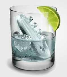 Gin & Titonic ice cube tray. We need this. :)