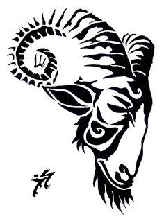 Goat for Tattoo by ~Mashumaru on deviantART