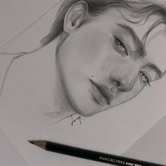 Image may contain: drawing Pencil Art Drawings, Drawing Sketches, Realistic Face Drawing, Boy Sketch, Art Alevel, Scary Art, Art Pictures, Photos, Aesthetic Drawing