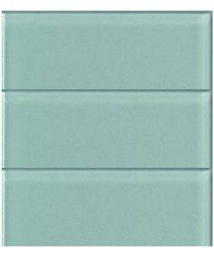 Aqua Blue Glass Subway Tile in Pool | Modwalls Designer Lush 4x12 Tile