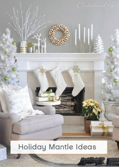 Deck your halls this holiday season with beautiful décor. Combine all your favorite accent pieces and place them on your mantle for a sophisticated look.