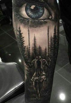 New Eye Tattoo Realism Galleries Ideas Lion Tattoo Sleeves, Forearm Sleeve Tattoos, Leg Tattoos, Black Tattoos, Body Art Tattoos, Creepy Tattoos, Badass Tattoos, Angel Tattoo Designs, Tattoo Sleeve Designs