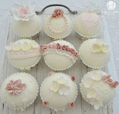 Delicate Wedding Cupcakes!!! - Lace, Ruffles and Steel - Friday Faves - Cake Central