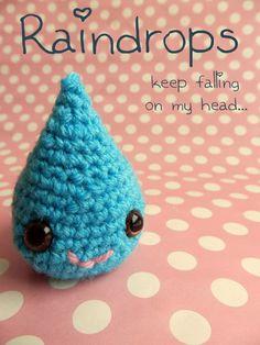 Mingky Tinky Tiger + the Biddle Diddle Dee super cute kawaii amigurumi mini crochet raindrops