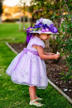 PURPLE Tea Party Hat Easter Hat Easter by AllDressedUpCouture, $18.00