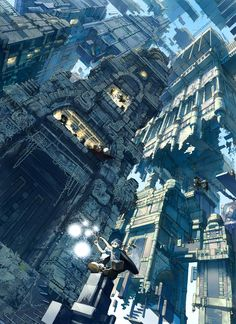 Buildings and inception scene buildings; travel back in time  たみ | 30 Painfully Talented Artists You Should Follow On Pixiv