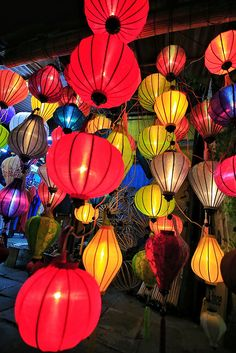 Coloured lanterns - Hoi An, Vietnam.  One of the most beautiful places Ken and I have ever visited.