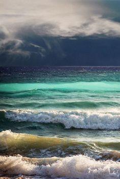 Summer storm over the ocean.