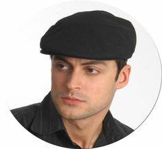 Men's Fitted 100% Linen Newsboy Ivy Flat Snap Cap hat