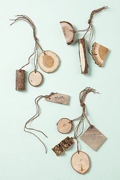 Wooden Gift Tags #anthropologie