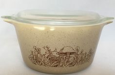 Pyrex Forest Fancies Casserole Covered Baking Dish With Lid 473 B One Quart VTG #Pyrex #Casserole