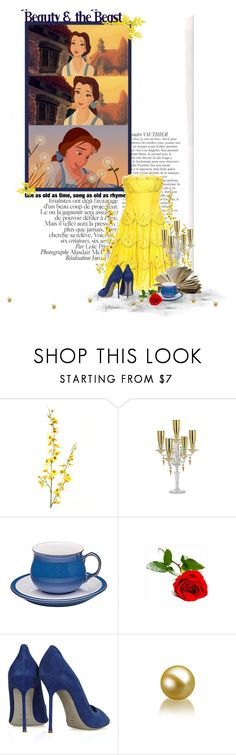 """""""10/50. Beauty and the Beast (1991)"""" by mushroomstew ❤ liked on Polyvore featuring Baccarat, Denby, Sergio Rossi, beauty and the beast, disney and belle"""