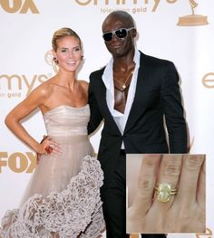 Heidi Klum and Seal - Most Famous Engagement Rings #engagement #ring