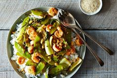 Shrimp and Baby Bok Choy recipe: Light and Spicy. #food52