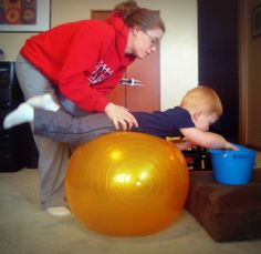 Using an Exercise Ball for Building Core Strength