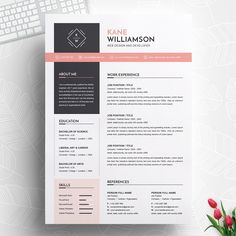 Professional resume cv template modern resume template 120430 is designed to showcase your skills and experience in a sleek way the template is always easy to fill out save time and effort Resume Tips, Resume Cv, Resume Examples, Business Resume, Resume Ideas, Mise En Page Portfolio, Portfolio Web, Cv Design Template, Resume Template Free