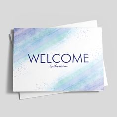 17 best welcoming new employees images on pinterest greeting cards soft welcoming soft colorsgreeting cardscricutsoothing m4hsunfo