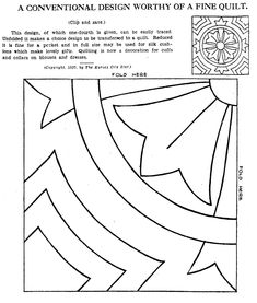Vintage Hand Quilting Patterns