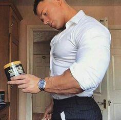ocmscl: by musclejake Yes dude. I do think its time. Hunks Men, Muscle Hunks, Muscle Boy, Beefy Men, Men In Uniform, Muscular Men, Well Dressed Men, Good Looking Men, Perfect Man