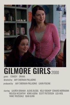 Gilmore Girls Movie, Gilmore Girls Poster, Gilmore Gilrs, Iconic Movie Posters, Iconic Movies, Keiko Agena, Scott Patterson, Girl Film, Film Poster Design