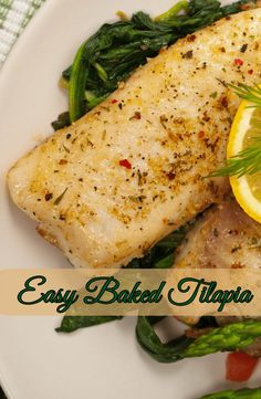 Healthy and easy recipe that calls for only a few minutes of preparation and use. - Healthy and easy recipe that calls for only a few minutes of preparation and uses just a few ingred - Tilipa Recipes, Talipa Fish Recipes, Seafood Recipes, Cooking Recipes, Healthy Recipes, Talapia Recipes Healthy, Pescatarian Recipes, Dinner Recipes, Tilapia Recipe Oven