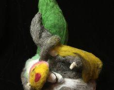Creative Wool Work, Original and Handmade Designs by FairylandIreland Handmade Design, Dinosaur Stuffed Animal, Etsy Seller, Wool, Bird, The Originals, Creative, Birds, Birdwatching