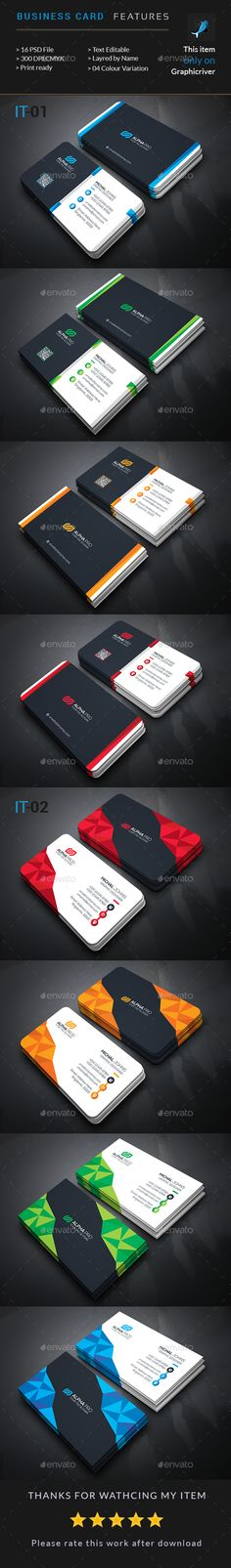 Creative card Bundle 2 In 1 - Business Cards Print Templates Download here : https://graphicriver.net/item/creative-card-bundle-2-in-1/18933667?s_rank=118&ref=Al-fatih