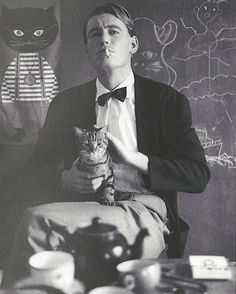 Peter O'Toole and a cat 1962