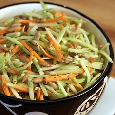 BROCCOLI SUNFLOWER SEED SLAW. A crunchy, nutritious side salad that you can throw together in 5 minutes. Loaded with vitamins and fiber and as easy as it gets. Love it with sandwiches, pulled pork, or anything from the grill.