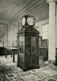 In Feb 1916 the newly enlarged public hall of the GPO reopened. As seen here in the Irish Builder magazine of 25 March 1916, it contained one of the first telephone boxes in Ireland. Weeks later, all this was gone.