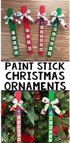 Paint Stick Chrismtas Ornament