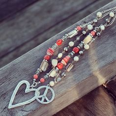 #A&C #beautifula&cjewellery #peace  #heart #coral #beads #necklace #necklaces #jewelleryobsessed #jewelryofinstagram #fashionaccessories #fashion #accessories #jewellery #jewelry #merx @merxinc #merx_inc Accessories Jewellery, Fashion Accessories, Fashion Jewelry, Beaded Bracelets, Necklaces, Coral, Peace, Stylish, Womens Fashion