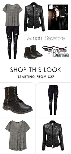 """Damon Salvatore inspired outfit the vampire diaries"" by liz-lite on Polyvore featuring Wet Seal and H&M"