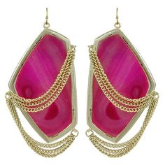 Kendra Scott Kavita Earrings in Pink Agate