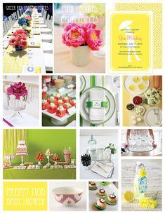 Baby Shower inspirational board