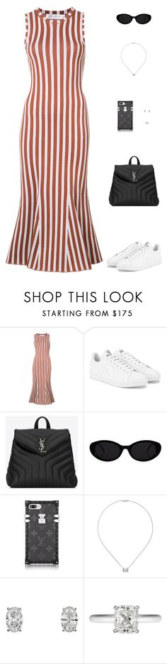 """Untitled #5031"" by mdmsb on Polyvore featuring Victoria Beckham, adidas and Yves Saint Laurent"
