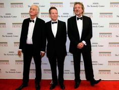 guess who? members of Led Zepplin Jimmy Page, left, John Paul Jones, center, and Robert Plant arrive at the State Department. Kennedy Center Honors, 2012. | AP Photo