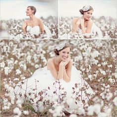 cotton field wedding pictures