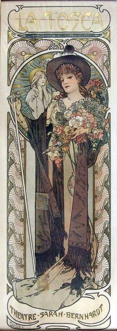 noiseman:    La Tosca, by Alphonse Mucha, 1899.