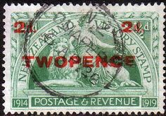 New Zealand 1922 Peace Victory Surcharged SG 459 Fine Used SG 459 Scott 174 Other British Commonwealth Stamps Here