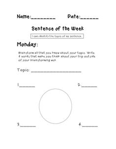 Vocabulary four squarepdf literacy block pinterest pdf sentence of the week narrative edition differentiated k 1st grade ccss aligned fandeluxe Choice Image