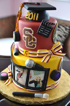 USC School of Cinematic Arts Graduation Cake by thecakemamas, via Flickr
