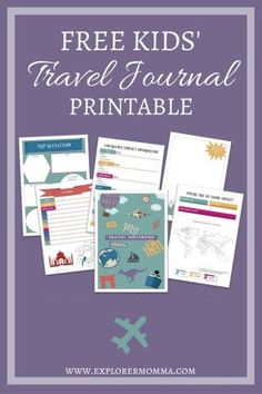 Going on vacation and need educational kids' activities? Try this free Kids' Travel Journal Printable. Ideal for family travel and kids on vacation. Print it out and go! Travel Activities, Educational Activities, Adventure Activities, Summer Activities, Travel Essentials, Travel Tips, Travel Ideas, Car Travel, Travel Stuff
