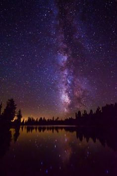Stars over Emerald Lake (Lassen Volcanic Nation Park, California) by Darren Marshall on 500px