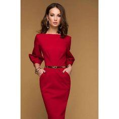 Simple Red Midi Dress.day Dress With Pockets.jersey Spring.straight  Silhouette Day · Jarné ŠatyŠaty ... ff6ca0a233