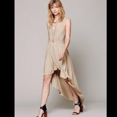 💜bundled Free People Diamonds are Forever easy and effortless enough for the best of the seaside beauties, this lovely beach gown raises the bar. Channeling the spirit of an oceanic goddess, this simple dress features a low cut back and dramatic flowy Hi-Lo hem to catch a sea breeze. Just a glimmer of sparkle. FP Beach is a collection that embodies the free spirit of the seaside lifestyle with casual knit dressing, lightweight layers and effortless shapes.  $150 Free People Dresses