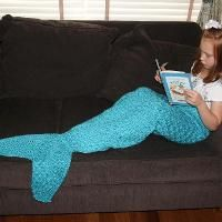 Girls Mermaid Tail Lapghan or Cocoon