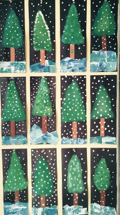 Les sapins année nadal christmas crafts for kids, christmas crafts y . Winter Art Projects, Christmas Crafts For Kids, Christmas Projects, Holiday Crafts, Craft Projects, Winter Project, Preschool Christmas, Christmas Activities, Kindergarten Art